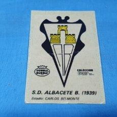 Cromos de Fútbol: PEGATINA S. D. ALBACETE 1939 - DUBBLE BUBBLE - COLECCIÓN SPORT. Lote 269634358