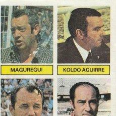 Cromos de Fútbol: ENTRENADORES MAGUREGUI,KOLDO AGUIRRE,BOSKOV Y CARDEÑOSA. ED.ESTE 1981 1982 .DESPEGADO.. Lote 269689918