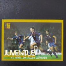 Cromos de Fútbol: JULIO ALBERTO Y PLATINI FC BARCELONA - MUNDO DEPORTIVO - COLECCIÓN ÁLBUM BARÇA D OR NUEVO. Lote 269717513