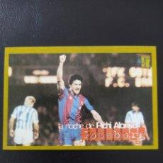 Cromos de Fútbol: PICHI ALONSO GOTEBORG FC BARCELONA - MUNDO DEPORTIVO - COLECCIÓN ÁLBUM BARÇA D OR NUEVO. Lote 269718388