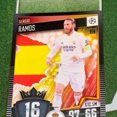 Cromos de Fútbol: Nº 16 SERGIO RAMOS REAL MADRID MATCH ATTAX 101 TOPPS 2020 2021 20/21 TRADING CARD GAME. Lote 269786153
