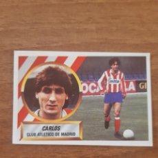 Cromos de Fútbol: N°12 CARLOS (ATLÉTICO MADRID) VERSIÓN SIN B EN LA TRASERA LIGA 88-89 ESTE. NUNCA PEGADO. Lote 269949518