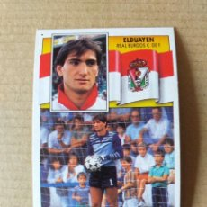 Cromos de Fútbol: ESTE - LIGA 90/91 - 1990 1991 - ULTIMO FICHAJE Nº 2 (REAL BURGOS C.F. - ELDUAYEN) - SIN PEGAR. Lote 270127068