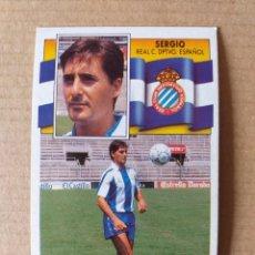 Cromos de Fútbol: ESTE - LIGA 90/91 - 1990 1991 - ULTIMO FICHAJE Nº 17 (R.C.D. ESPAÑOL - SERGIO) - DESPEGADO. Lote 270127388
