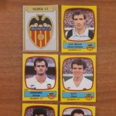 Cromos de Fútbol: LOTE 6 CROMOS DIFERENTES VALENCIA CF LIGA 88-89 FÚTBOL 89 PANINI. NUNCA PEGADOS. Lote 270157828