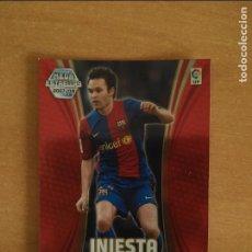 Cromos de Fútbol: INIESTA - F.C.BARCELONA. MEGACRACKS 2007-2008. BRILLO .PERFECTOS ESTADO. Lote 270635763