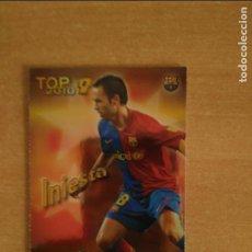 Cromos de Fútbol: INIESTA - F.C.BARCELONA. MUNIDCROMO 2010. TOP 2010.DORADO LISO .PERFECTOS ESTADO. Lote 270636008