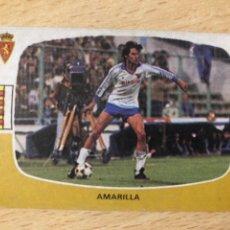 Cromos de Fútbol: AMARILLA REAL ZARAGOZA CROMOS CANO 84-85 SIN PEGAR MUY BUEN ESTADO. Lote 270636628