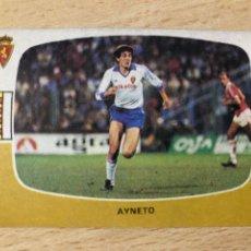Cromos de Fútbol: AYNETO REAL ZARAGOZA CROMOS CANO 84-85 SIN PEGAR MUY BUEN ESTADO. Lote 270636718