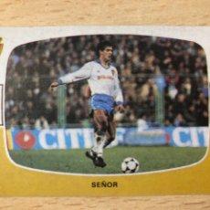 Cromos de Fútbol: SEÑOR REAL ZARAGOZA CROMOS CANO 84-85 SIN PEGAR MUY BUEN ESTADO. Lote 270636868