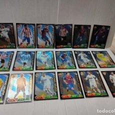 Cromos de Fútbol: CROMOS ADRENALYN 2011/12 SUPER CRACK LOTE 18 HIGUAÍN ,FALCAO,XAVI ETC. Lote 270947008