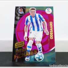 Cromos de Fútbol: MEGACRACKS 2019 2020 19 20 PANINI ODEGAARD EDICIÓN LIMITADA FICHAJE REAL SOCIEDAD ALBUM LIGA MGK. Lote 271022423