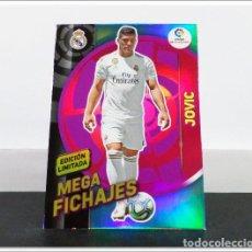 Cromos de Fútbol: MEGACRACKS 2019 2020 19 20 PANINI JOVIC EDICIÓN LIMITADA FICHAJE REAL MADRID ALBUM LIGA CARD MGK. Lote 271022723