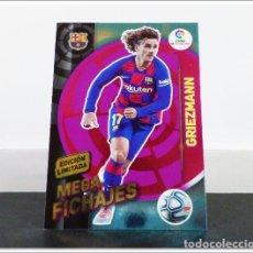Cromos de Fútbol: MEGACRACKS 2019 2020 19 20 PANINI GRIEZMANN EDICIÓN LIMITADA FICHAJE BARCELONA ALBUM LIGA CARD MGK. Lote 271023108