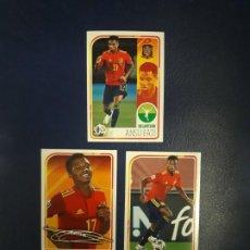 Cartes à collectionner de Football: CROMOS EURO 2020. N° 60, 61, 62. ANSU FATI. ALBUM SELECCION. PANINI. CARREFOUR 2021. Lote 271448033