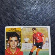 Cromos de Fútbol: DE LUIS OSASUNA ESTE 1991 1992 CROMO FUTBOL LIGA 91 92 - SIN PEGAR - 771. Lote 271623943