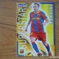 Cromos de Fútbol: MUNDICROMO 2012 Nº 25 INIESTA (FC BARCELONA) SUPERSTAR MATE - FUTBOL CROMO BARÇA 12. Lote 271624623