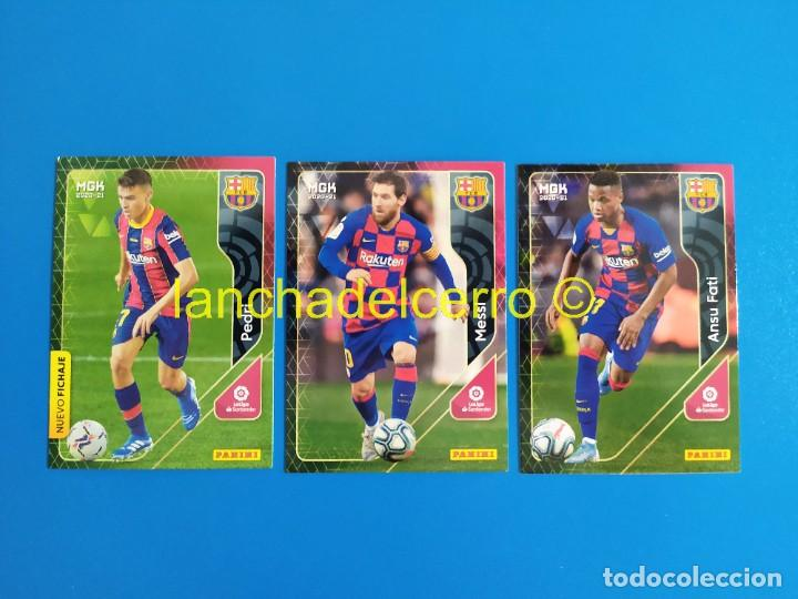 MEGACRACKS 2020 2021 / 20 21 PEDRI Nº 430 ROOKIE - MESSI Nº 70 - ANSU FATI Nº 71 (BARCELONA) MGK (Coleccionismo Deportivo - Álbumes y Cromos de Deportes - Cromos de Fútbol)