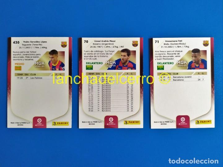 Cromos de Fútbol: Megacracks 2020 2021 / 20 21 Pedri nº 430 Rookie - Messi nº 70 - Ansu Fati nº 71 (Barcelona) MGK - Foto 2 - 268266584