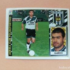 Cromos de Fútbol: GABRICH, COLOCA MÉRIDA CD, EDITORIAL ESTE 97 /98, NUEVO. Lote 275111358