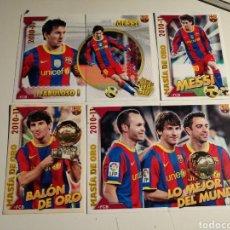 Cromos de Fútbol: CROMOS MESSI F.C.BARCELONA 10 11 COLECCION OFICIAL NUEVOS, NUNCA PEGADOS. Lote 275972808