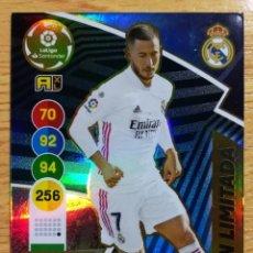 Cartes à collectionner de Football: CARD ADRENALYN XL TEMPORADA 2020/2021 EDITORIAL PANINI JUGADOR HAZARD EDICIÓN LIMITADA REAL MADRID. Lote 276091608