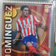 Cromos de Fútbol: 636 DOMINGUEZ - ATLETICO DE MADRID - ERROR TOP BRILLO LISO ROJO MUNDICROMO QUIZ LIGA 2010 2011. Lote 276116843