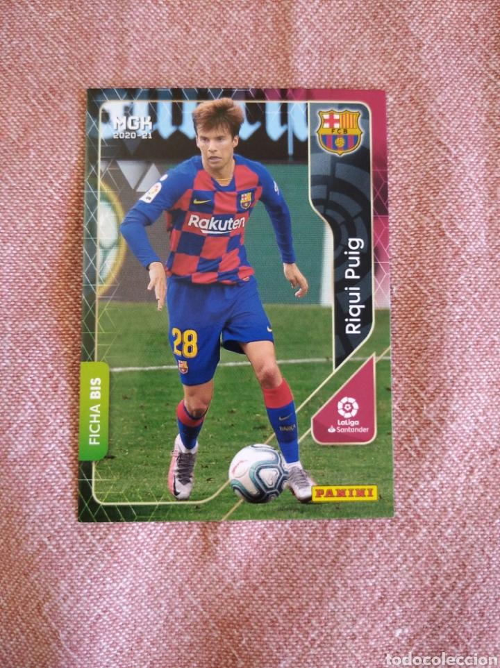 RIQUI PUIG FC BARCELONA - FICHA BIS 64. MEGACRACKS 20 21 2020 2021. PANINI (Coleccionismo Deportivo - Álbumes y Cromos de Deportes - Cromos de Fútbol)