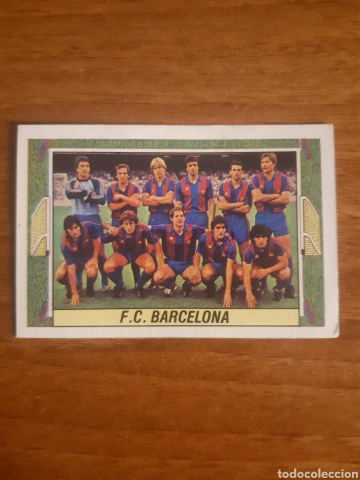 ALINEACIÓN FC BARCELONA LIGA 84-85 ESTE CON MARADONA. NUNCA PEGADO (Coleccionismo Deportivo - Álbumes y Cromos de Deportes - Cromos de Fútbol)