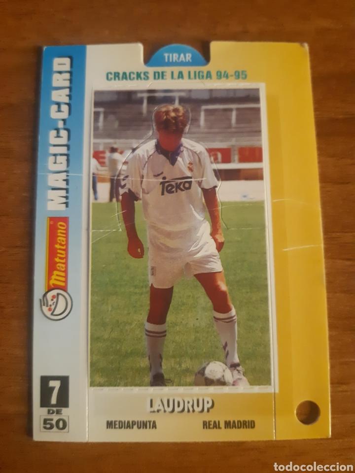N°7 LAUDRUP (REAL MADRID) MAGIC CARD MATUTANO 94-95 (Coleccionismo Deportivo - Álbumes y Cromos de Deportes - Cromos de Fútbol)