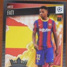 Cromos de Fútbol: Nº 77 ANSU FATI FC BARCELONA MATCH ATTAX 101 TOPPS 2020 2021. Lote 276599103
