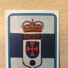 Cromos de Fútbol: # 167 ESCUDO REAL OVIEDO FUTBOL 75/76 VULCANO SIN PEGAR MUY BUEN ESTADO. Lote 276740283