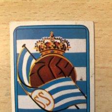 Cromos de Fútbol: # 195 ESCUDO REAL SOCIEDAD FUTBOL 75/76 VULCANO SIN PEGAR MUY BUEN ESTADO. Lote 276740428