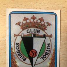 Cromos de Fútbol: # 281 ESCUDO BURGOS CF FUTBOL 75/76 VULCANO SIN PEGAR MUY BUEN ESTADO. Lote 276740798