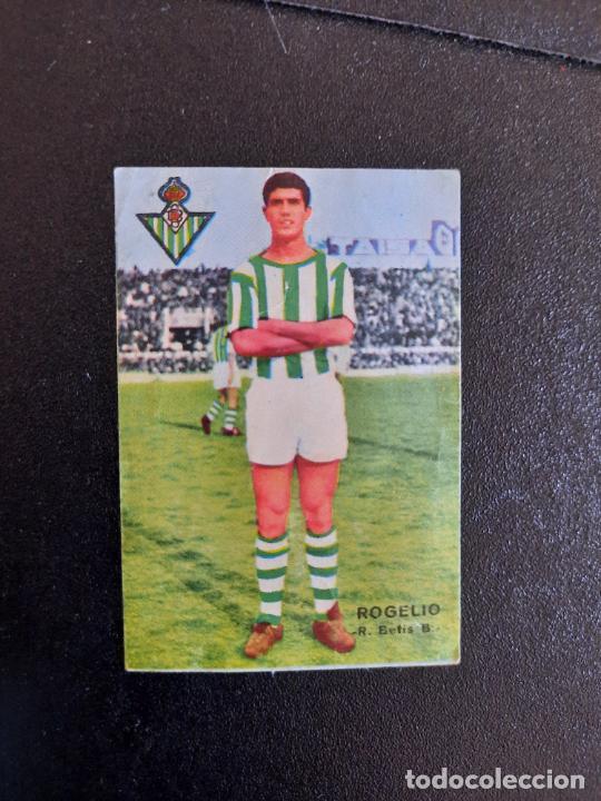 ROGELIO REAL BETIS FHER 1967 1968 CROMO FUTBOL LIGA 67 68 - DESPEGADO - A44 - PG379 (Coleccionismo Deportivo - Álbumes y Cromos de Deportes - Cromos de Fútbol)