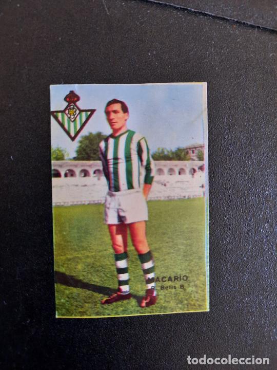 MACARIO REAL BETIS FHER 1967 1968 CROMO FUTBOL LIGA 67 68 - DESPEGADO - A44 - PG379 (Coleccionismo Deportivo - Álbumes y Cromos de Deportes - Cromos de Fútbol)
