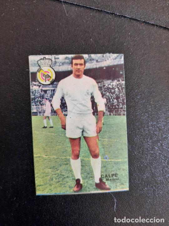 CALPE REAL MADRID FHER 1967 1968 CROMO FUTBOL LIGA 67 68 - DESPEGADO - A44 - PG370 (Coleccionismo Deportivo - Álbumes y Cromos de Deportes - Cromos de Fútbol)