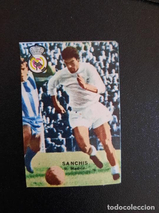 SANCHIS REAL MADRID FHER 1967 1968 CROMO FUTBOL LIGA 67 68 - DESPEGADO - A44 - PG370 (Coleccionismo Deportivo - Álbumes y Cromos de Deportes - Cromos de Fútbol)