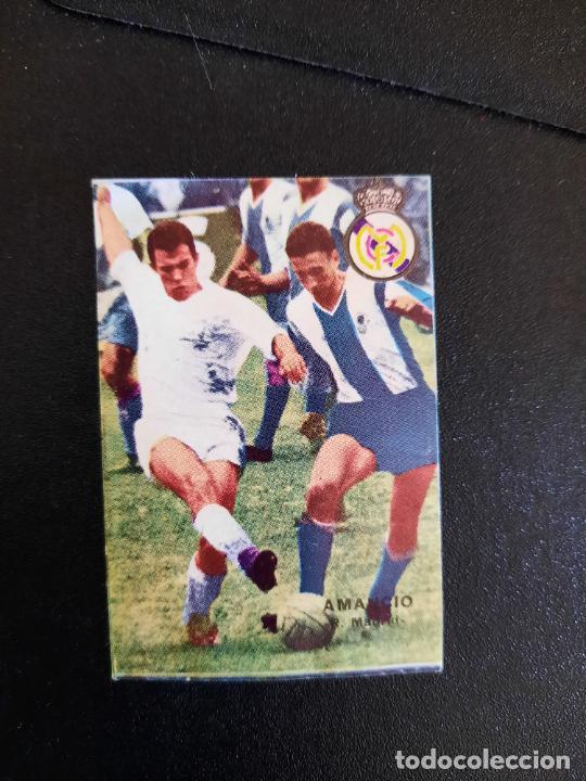 AMANCIO REAL MADRID FHER 1967 1968 CROMO FUTBOL LIGA 67 68 - DESPEGADO - A44 - PG370 (Coleccionismo Deportivo - Álbumes y Cromos de Deportes - Cromos de Fútbol)