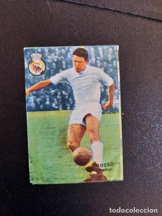 GROSSO REAL MADRID FHER 1967 1968 CROMO FUTBOL LIGA 67 68 - DESPEGADO - A44 - PG370 (Coleccionismo Deportivo - Álbumes y Cromos de Deportes - Cromos de Fútbol)