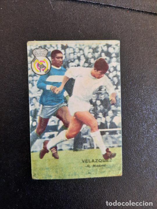 VELAZQUEZ REAL MADRID FHER 1967 1968 CROMO FUTBOL LIGA 67 68 - DESPEGADO - A44 - PG370 (Coleccionismo Deportivo - Álbumes y Cromos de Deportes - Cromos de Fútbol)