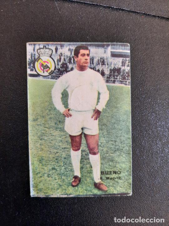 BUENO REAL MADRID FHER 1967 1968 CROMO FUTBOL LIGA 67 68 - DESPEGADO - A44 - PG370 (Coleccionismo Deportivo - Álbumes y Cromos de Deportes - Cromos de Fútbol)