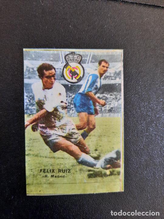 FELIZ RUIZ REAL MADRID FHER 1967 1968 CROMO FUTBOL LIGA 67 68 - DESPEGADO - A44 - PG370 (Coleccionismo Deportivo - Álbumes y Cromos de Deportes - Cromos de Fútbol)