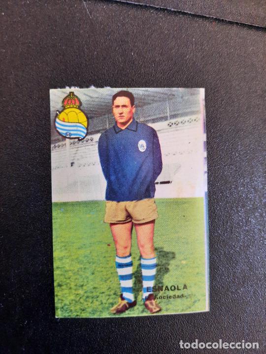 ESNAOLA REAL SOCIEDAD FHER 1967 1968 CROMO FUTBOL LIGA 67 68 - DESPEGADO - A44 - PG370 (Coleccionismo Deportivo - Álbumes y Cromos de Deportes - Cromos de Fútbol)
