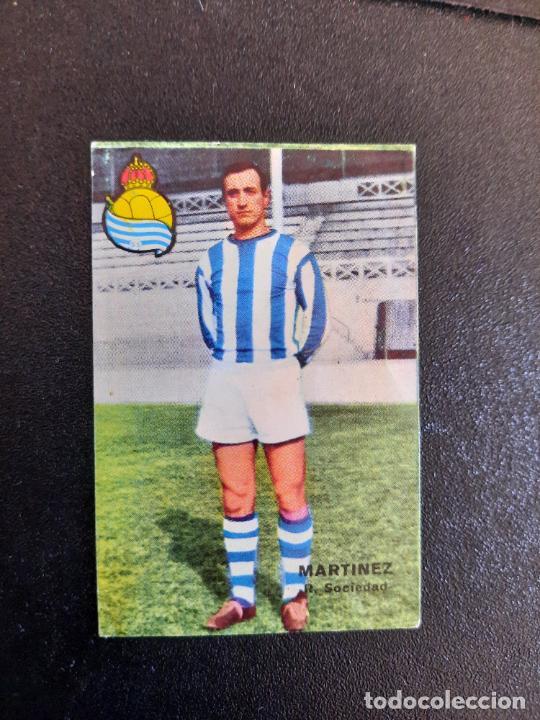 MARTINEZ REAL SOCIEDAD FHER 1967 1968 CROMO FUTBOL LIGA 67 68 - DESPEGADO - A44 - PG370 (Coleccionismo Deportivo - Álbumes y Cromos de Deportes - Cromos de Fútbol)