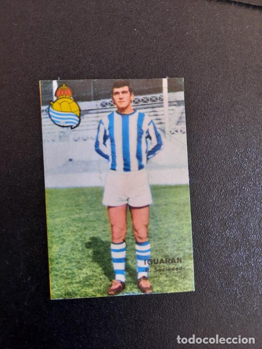 IGUARAN REAL SOCIEDAD FHER 1967 1968 CROMO FUTBOL LIGA 67 68 - DESPEGADO - A44 - PG370 (Coleccionismo Deportivo - Álbumes y Cromos de Deportes - Cromos de Fútbol)
