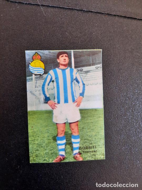 GORRITI REAL SOCIEDAD FHER 1967 1968 CROMO FUTBOL LIGA 67 68 - DESPEGADO - A44 - PG361 (Coleccionismo Deportivo - Álbumes y Cromos de Deportes - Cromos de Fútbol)