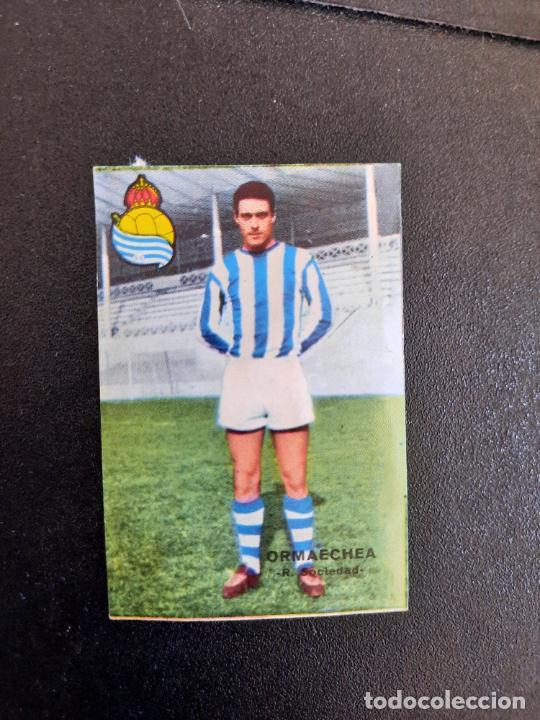 ORMAECHEA REAL SOCIEDAD FHER 1967 1968 CROMO FUTBOL LIGA 67 68 - DESPEGADO - A44 - PG361 (Coleccionismo Deportivo - Álbumes y Cromos de Deportes - Cromos de Fútbol)