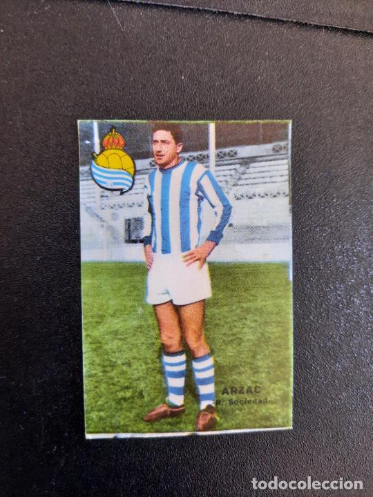 ARZAC REAL SOCIEDAD FHER 1967 1968 CROMO FUTBOL LIGA 67 68 - DESPEGADO - A44 - PG361 (Coleccionismo Deportivo - Álbumes y Cromos de Deportes - Cromos de Fútbol)
