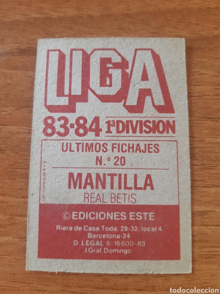 Cromos de Fútbol: Fichaje 20 Mantilla (Betis) versión sin pintar liga 83-84 ESTE. Nunca pegado, NUEVO - Foto 2 - 276919493